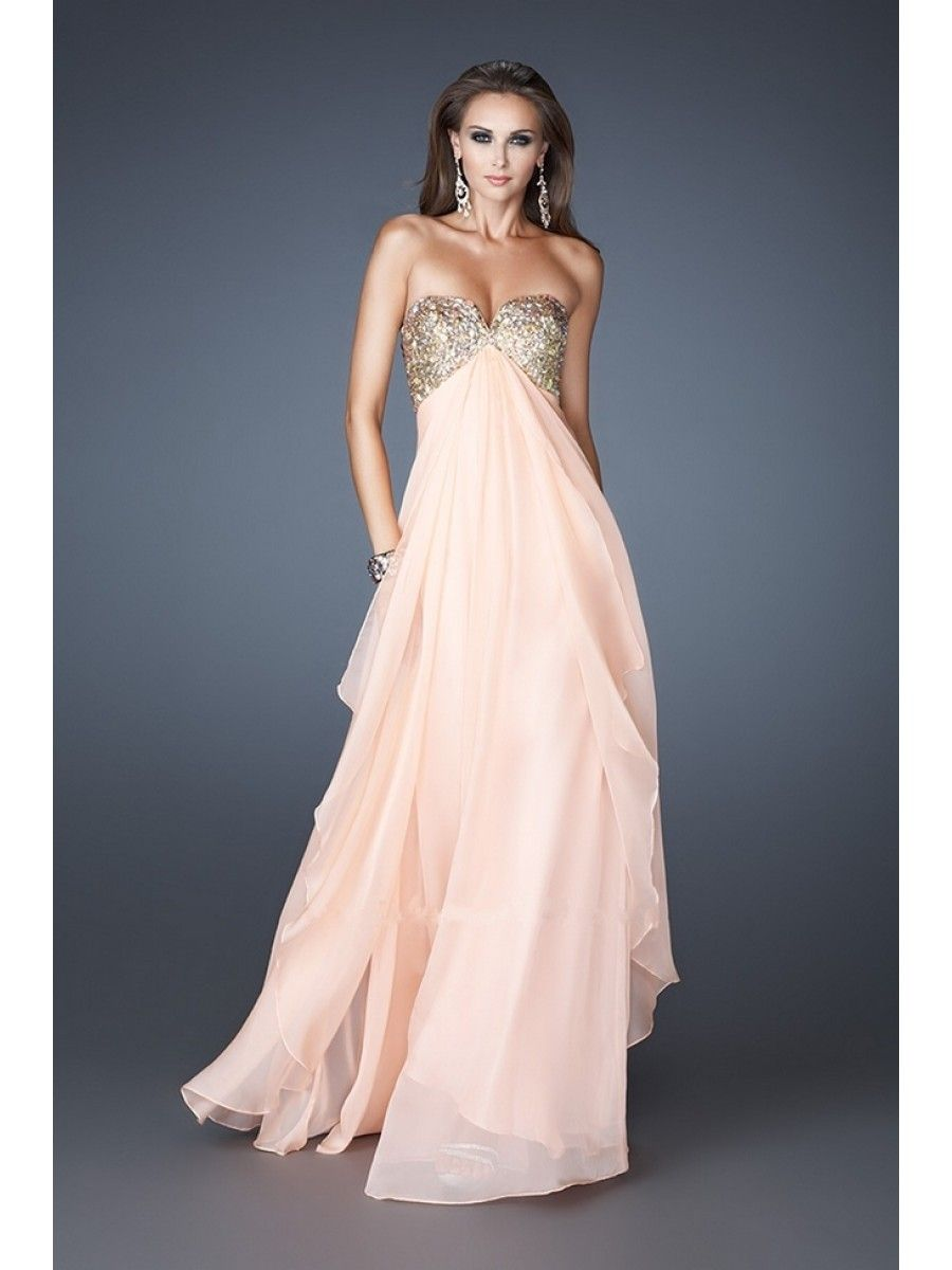 Prom Dresses Empire Sweetheart Chiffon Evening Party Maternity ...