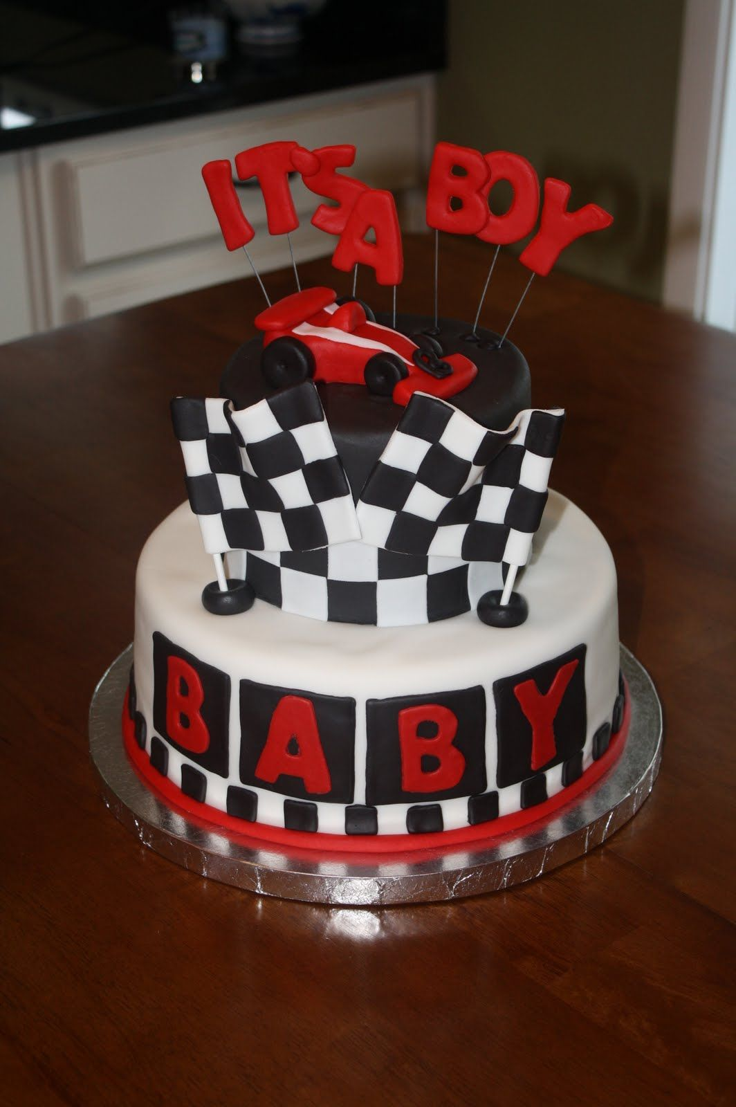 Racing Baby Shower Little Something Detailed Race Car