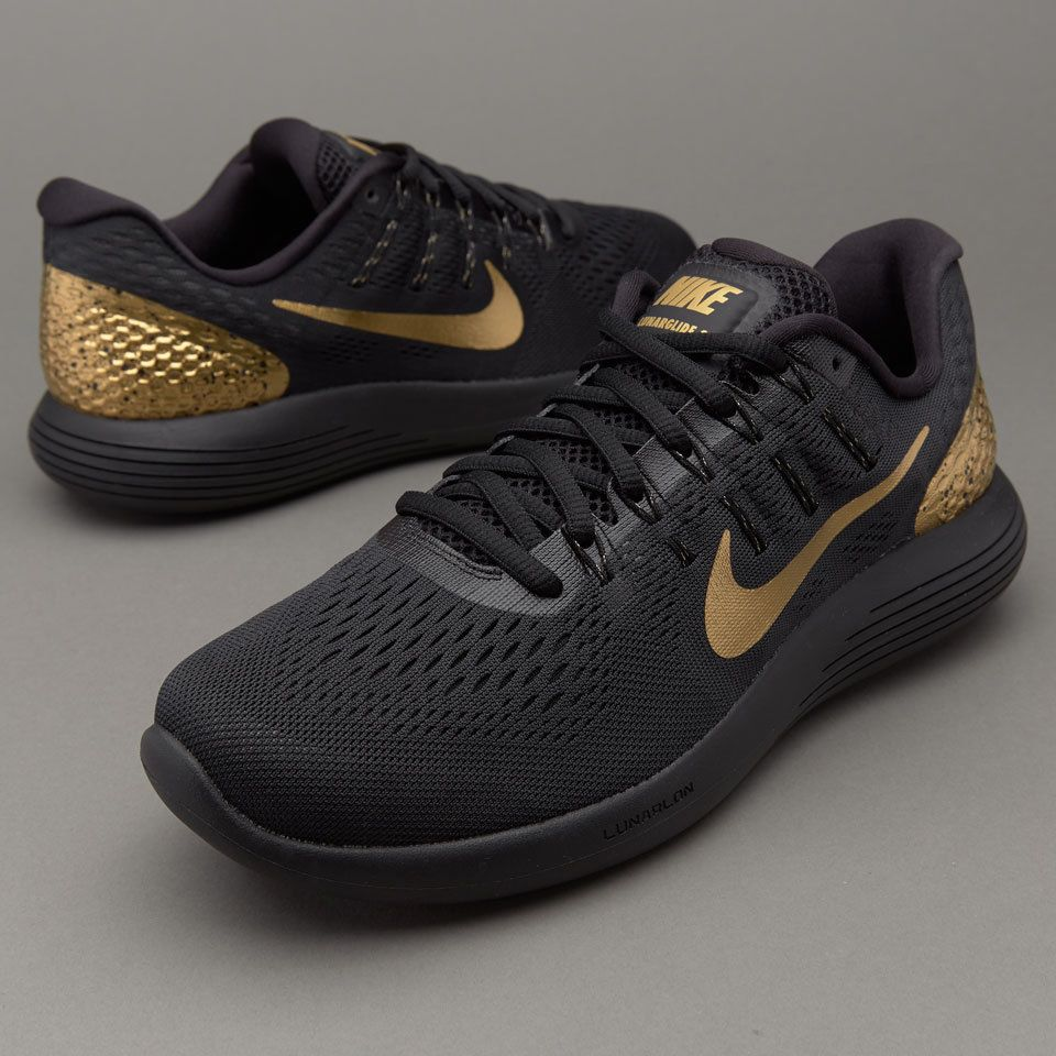 Nike Lunarglide 8 Ltd Edition - Black/Metallic Gold-Black-Mtlc Gldn Tn.  Find this Pin and more on Men's Shoes ...