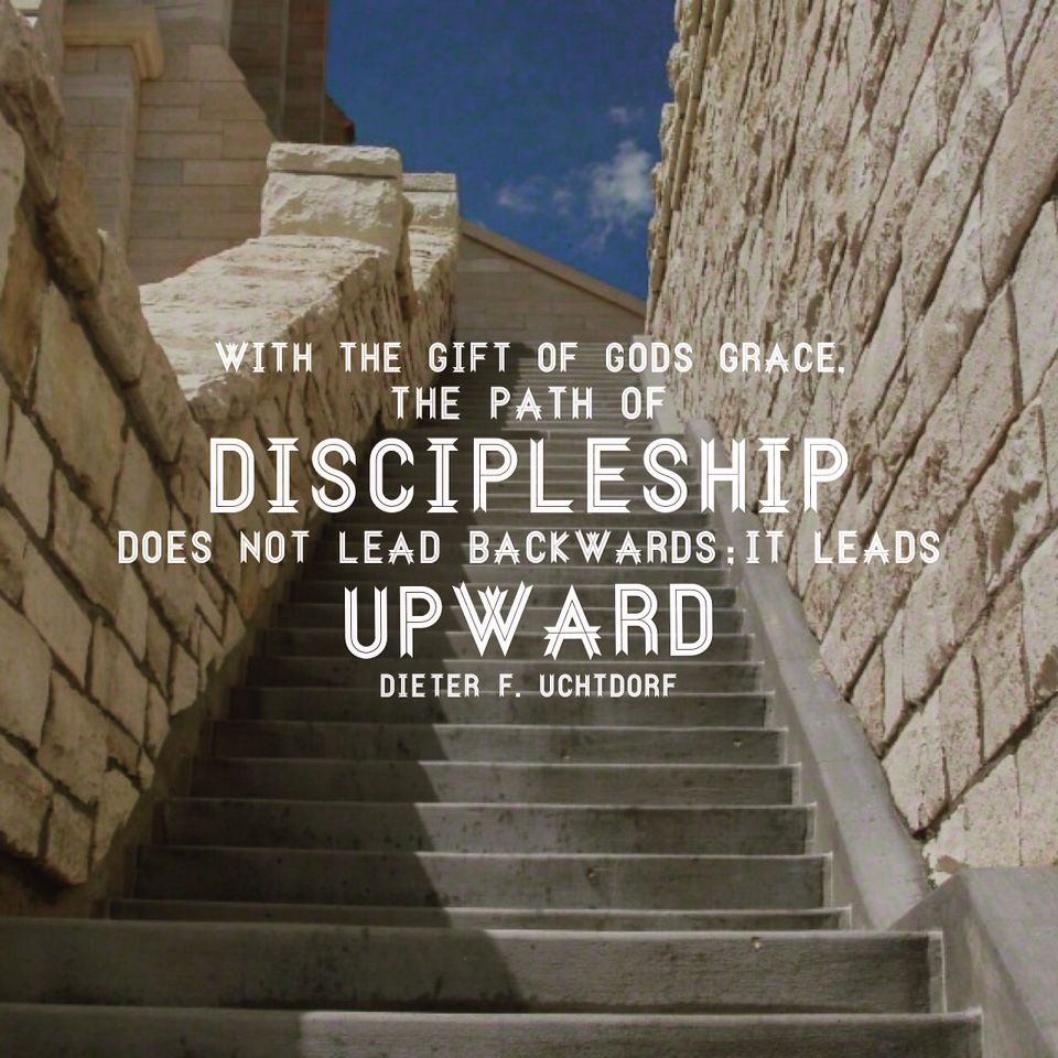 With the gift of God's grace, the path of discipleship does not ...
