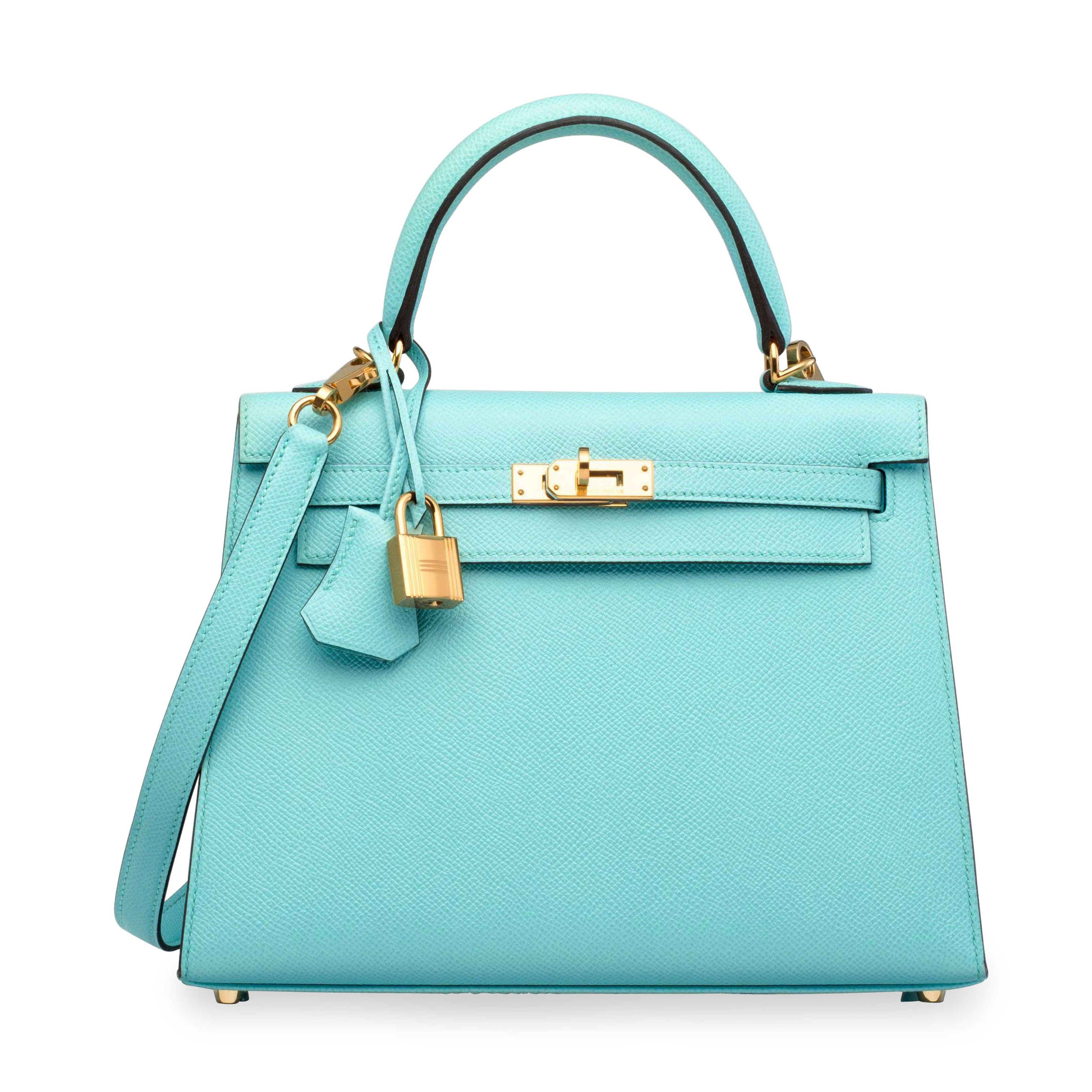 af9dc834e418 A bleu atoll epsom leather sellier kelly 25 with gold hardware ...