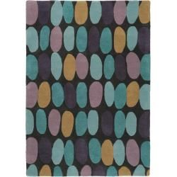 Photo of benuta Naturales de lana de la alfombra de la Matriz de color Púrpura 120×170 cm – natural de la fibra de la alfombra de lana de…