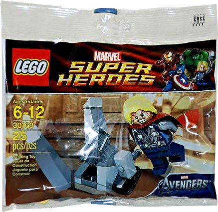 THOR /& THE COSMIC CUBE BRAND NEW SEALED BAG LEGO MARVEL SUPER HEROES 30163