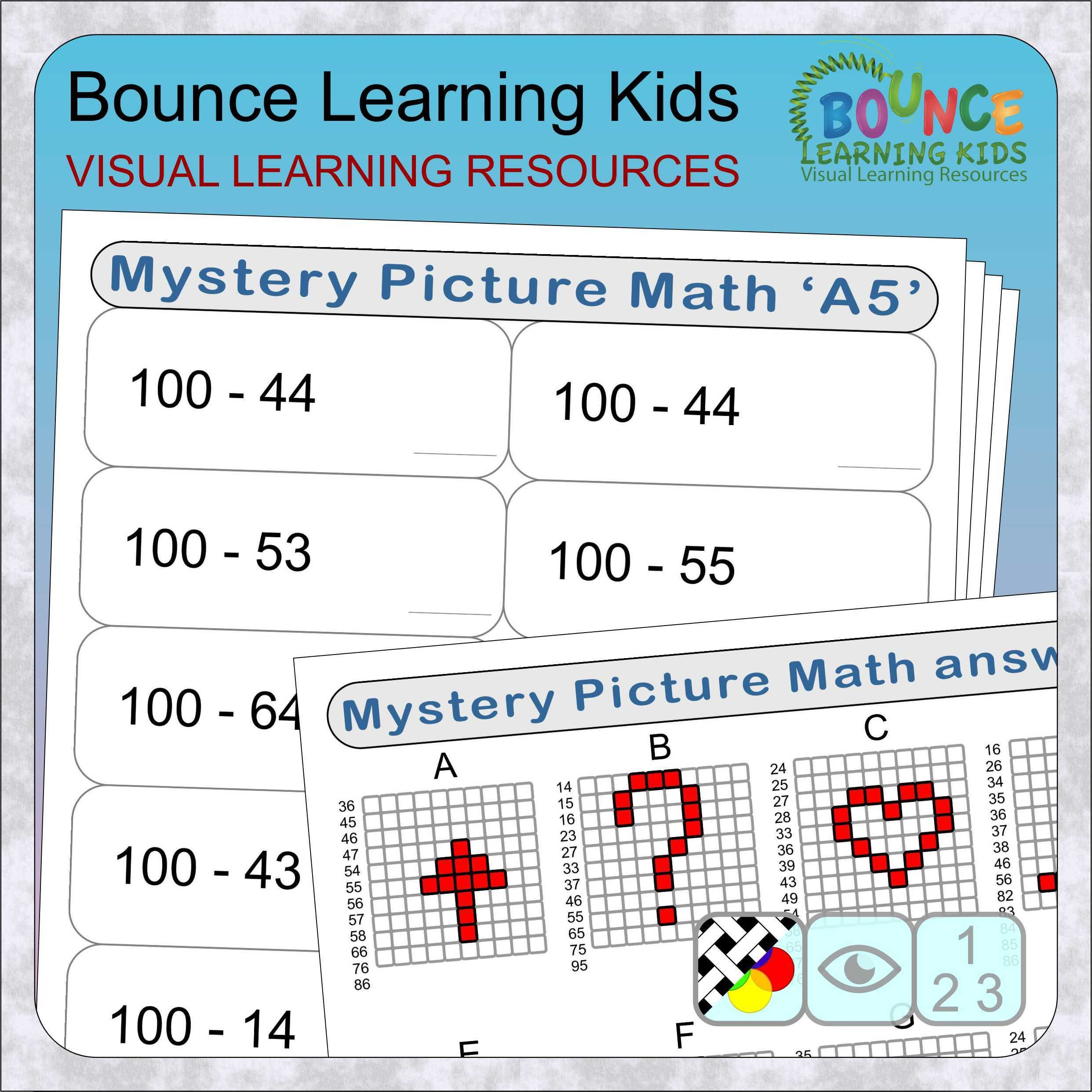 Mystery Picture Math With Subtraction Harder