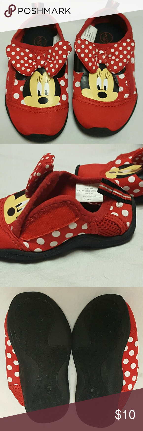 be8c5217c7e2 Minnie Mouse Shoes Toddler Girls Size 5 6 Disney Minnie Mouse Water   Swim  Shoes Toddler Girls Size 5 6 Velcro Closure Worn Once Disney Shoes Water  Shoes