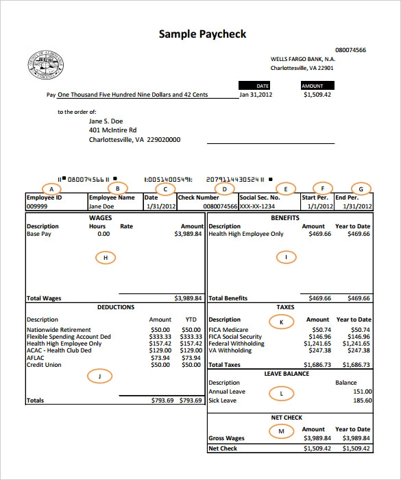 Payroll Templates 14+ Printable Word & Excel Formats