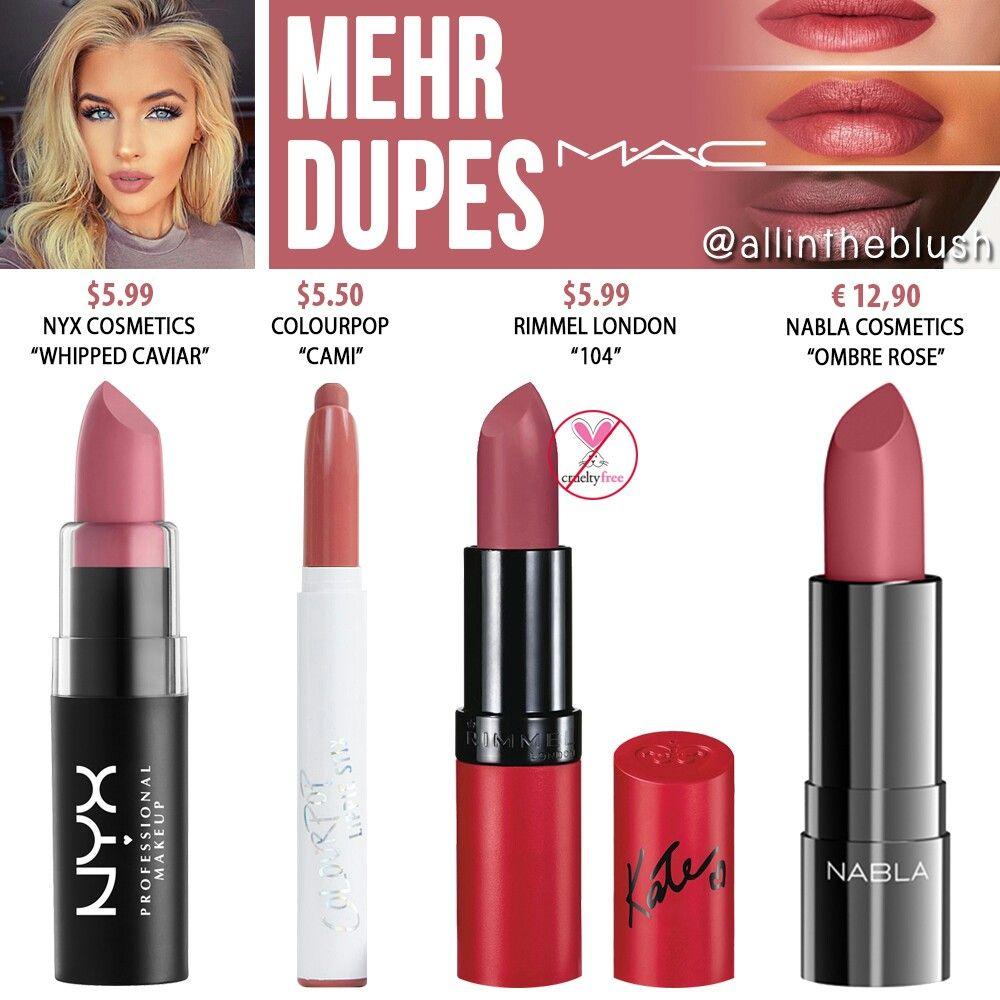 allintheblush Makeup dupes, Lipstick dupes, Mac