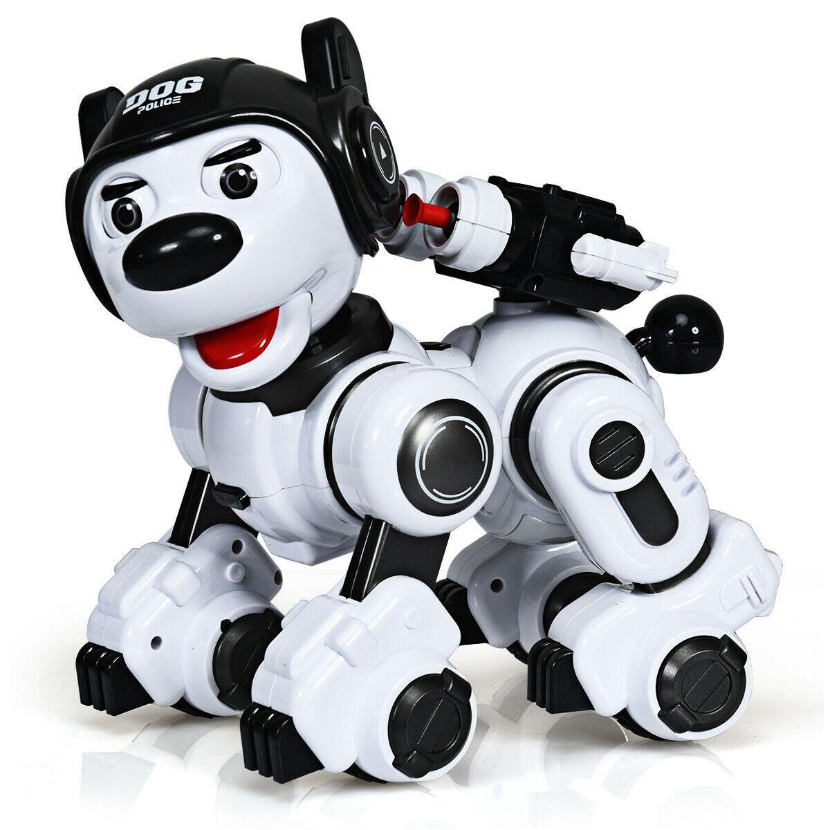 Wireless Programmable Interactive Remote Control Robotic Dog Black