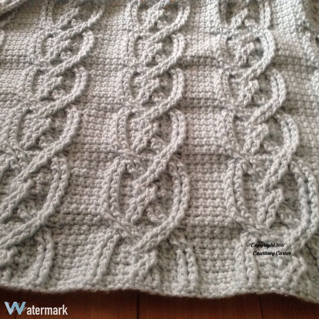 Twisted Cables Afghan - free written crochet pattern at Crocheting ...