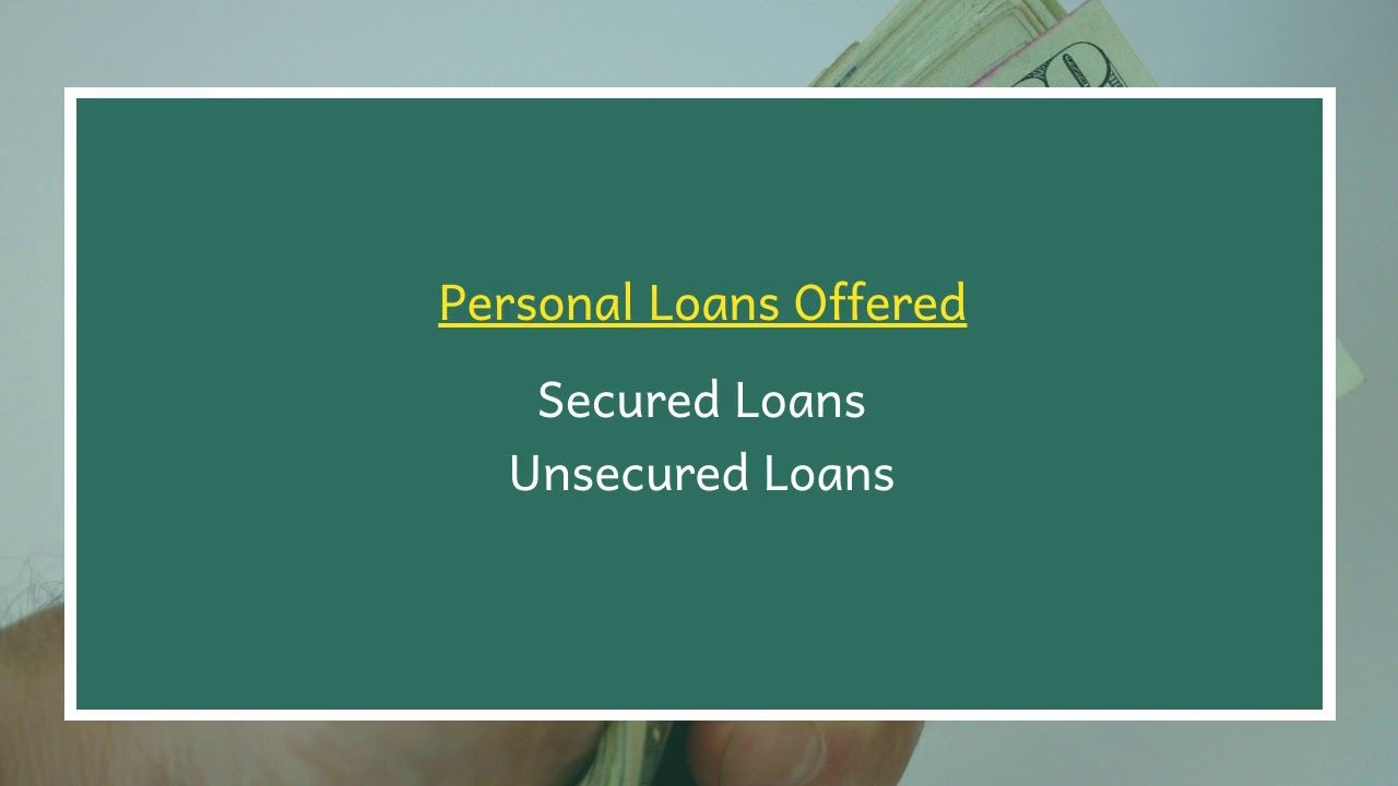 First National Bank Texas First Convenience Bank Offers A Variety Of Personal Loans To Customers In Cabot Ar The Personal Loans Unsecured Loans Secured Loan