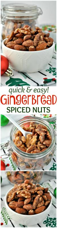 Quick and Easy Gingerbread Spiced Nuts on MyRecipeMagic.com So Delicious!!!