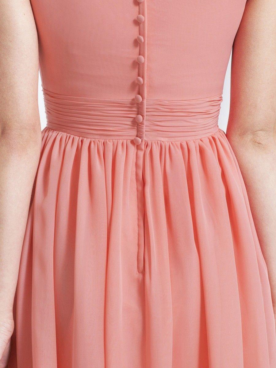 Bubble Sleeve Chiffon Dress | My Wedding Dresses | Pinterest