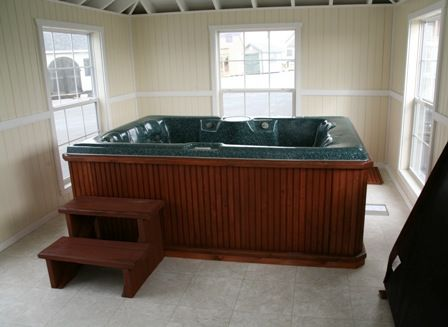 Placing Your Hot Tub Indoors Vs Outdoors Indoor Hot Tub Inside Pool Hot Tub