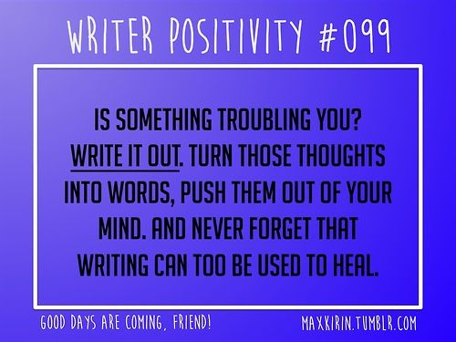 Daily Writer Positivity 099 Is Something Troubling You Write