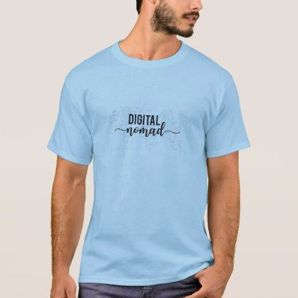 Digital nomad geometric world map t shirt sciox Image collections