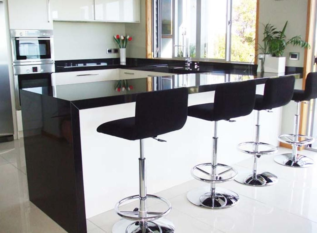 Worktop in Nero Uru- Granite #limestonegallery #nero #black #granite ...