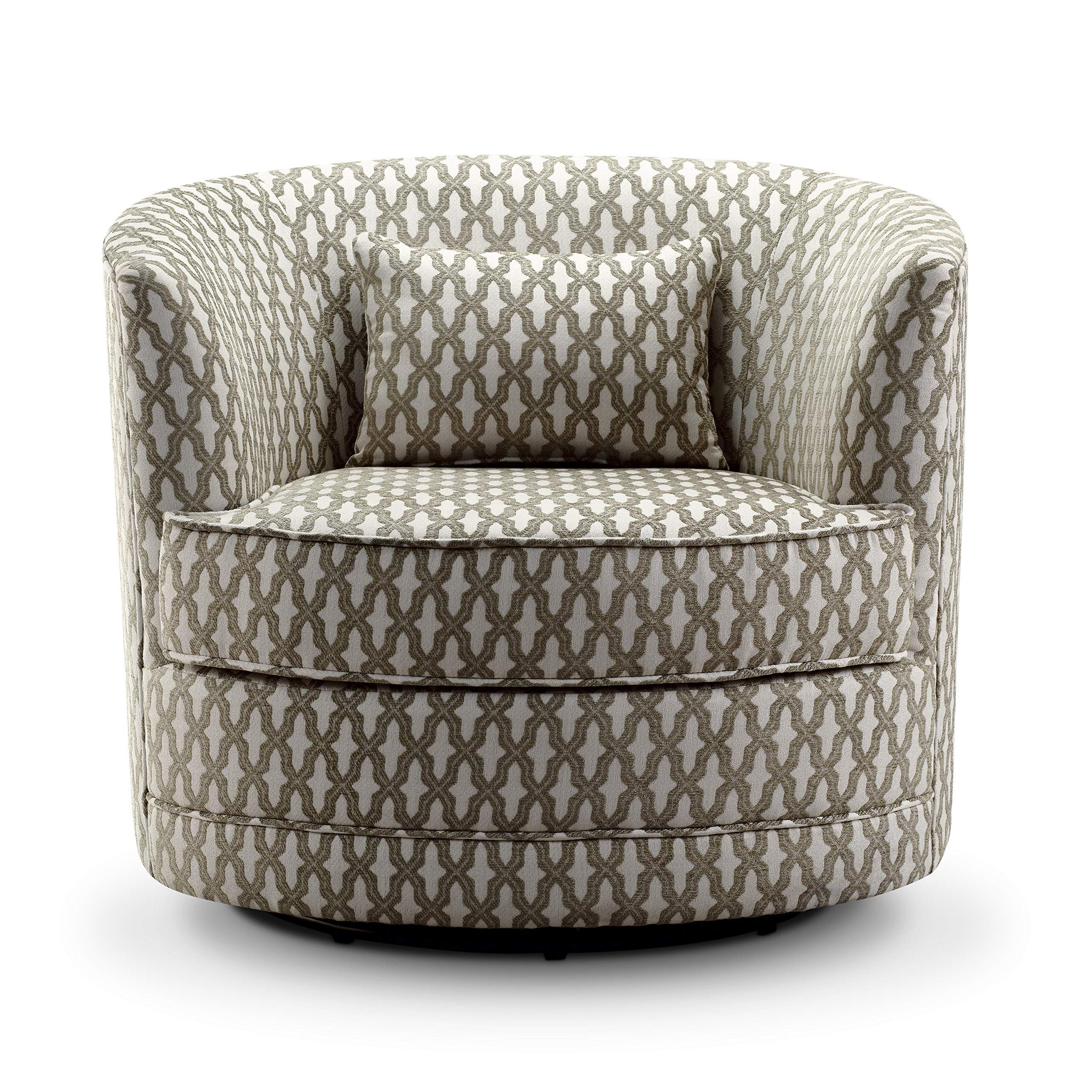 Rosevera Hearst Swivel Accent Chair Beige Accent Chairs Swivel