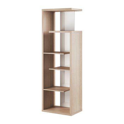 Latitude Run Raglin Standard Bookcase Colour Sonoma Oak White In