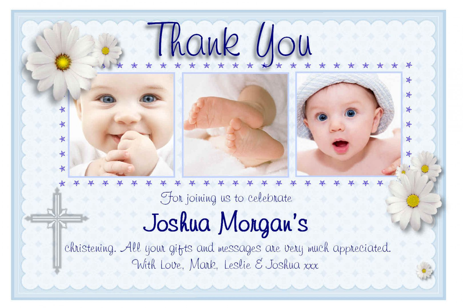 Explore Our Printable Thank You Card For Baptism Baptism Thank You Cards Christening Thank You Cards Personalized Baptism