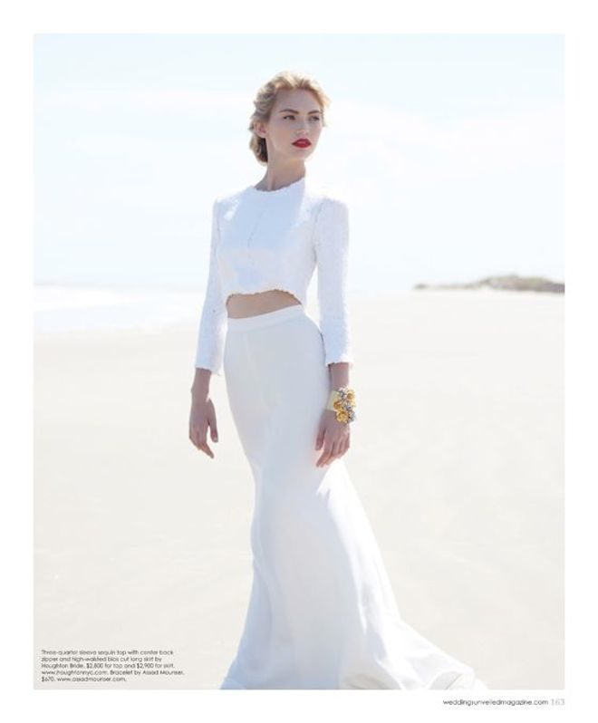 Fête Weddings | Wedding Planning VA | Crop Top Wedding Dress | Wedding Unveiled Magazine