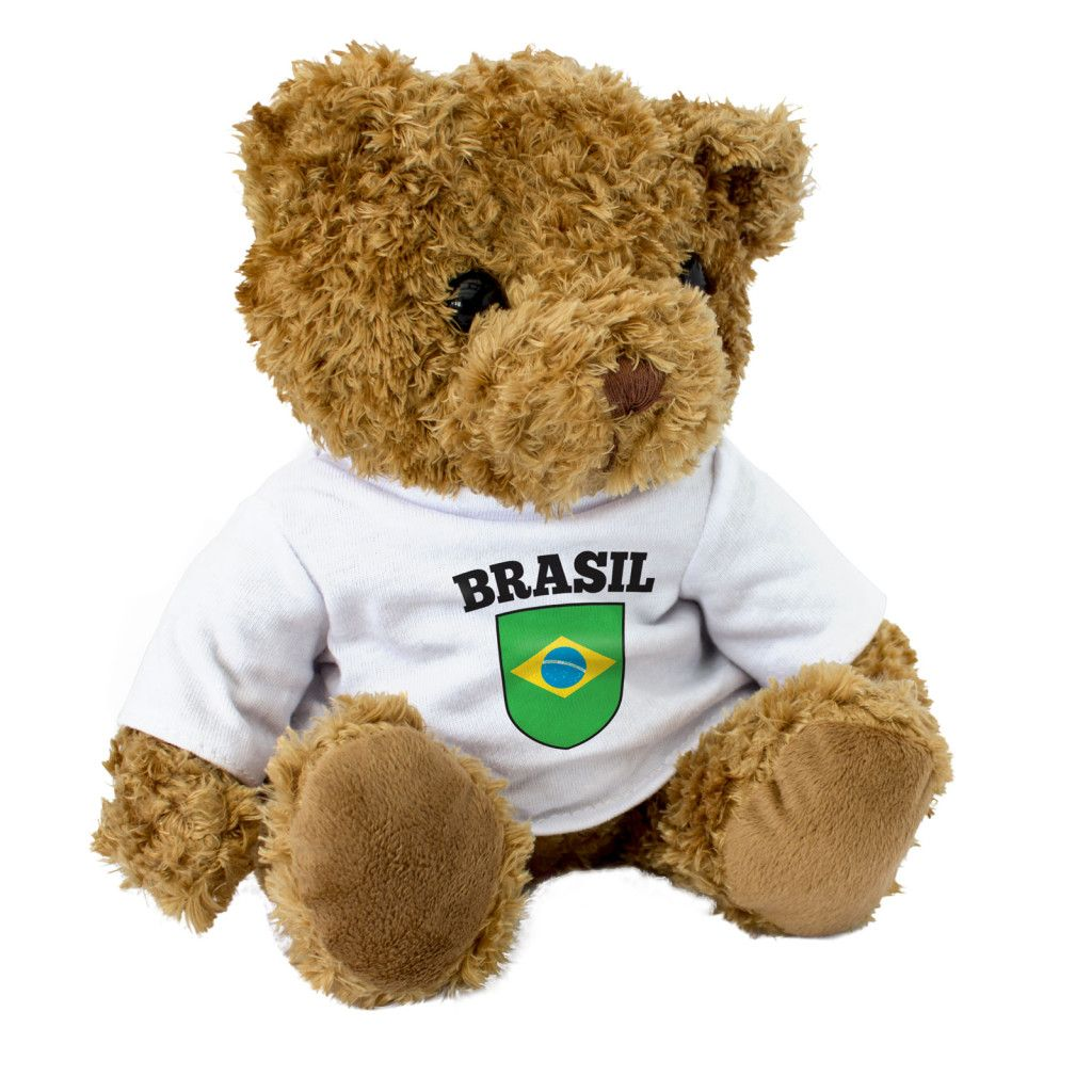 Barbados Love Heart Flag Gift Teddy Bear