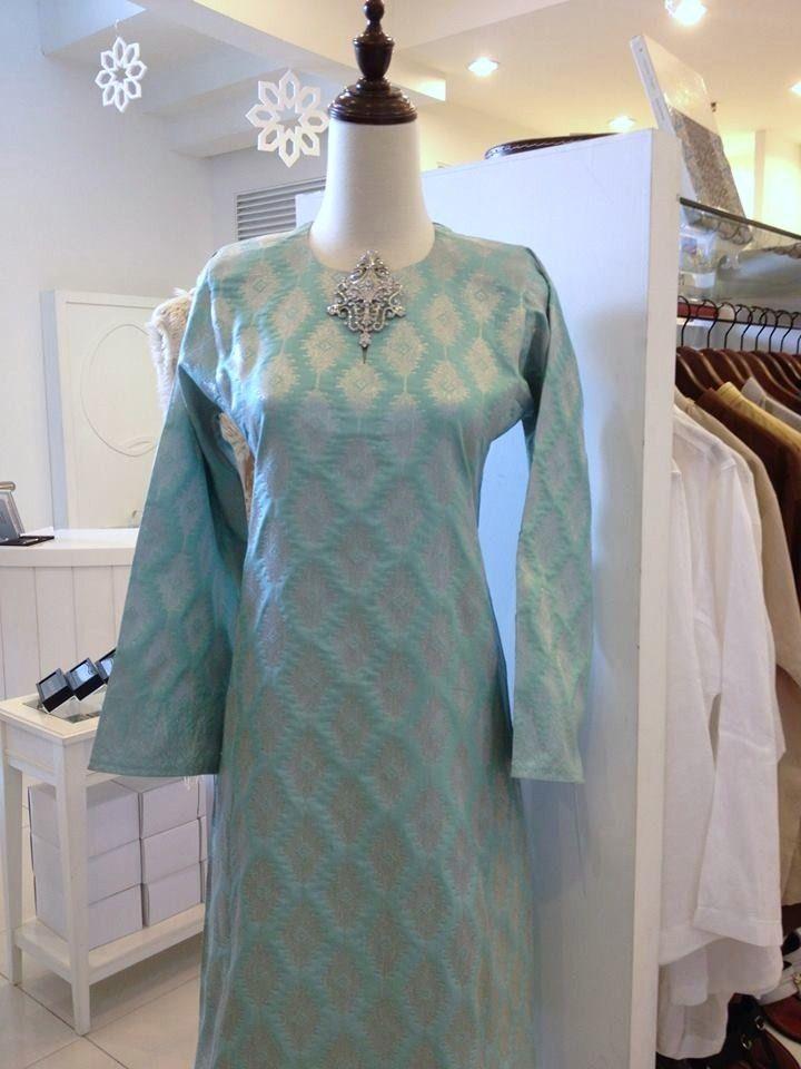 Songket Kurung in Grey  Jakel  via FashionValet  Dress ideas