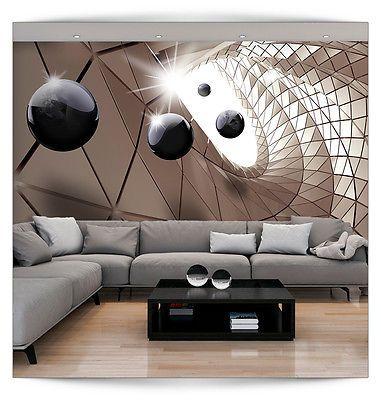 VLIES FOTOTAPETE 3D Kugeln TAPETE TAPETEN Schlafzimmer WANDBILD - fototapete für schlafzimmer