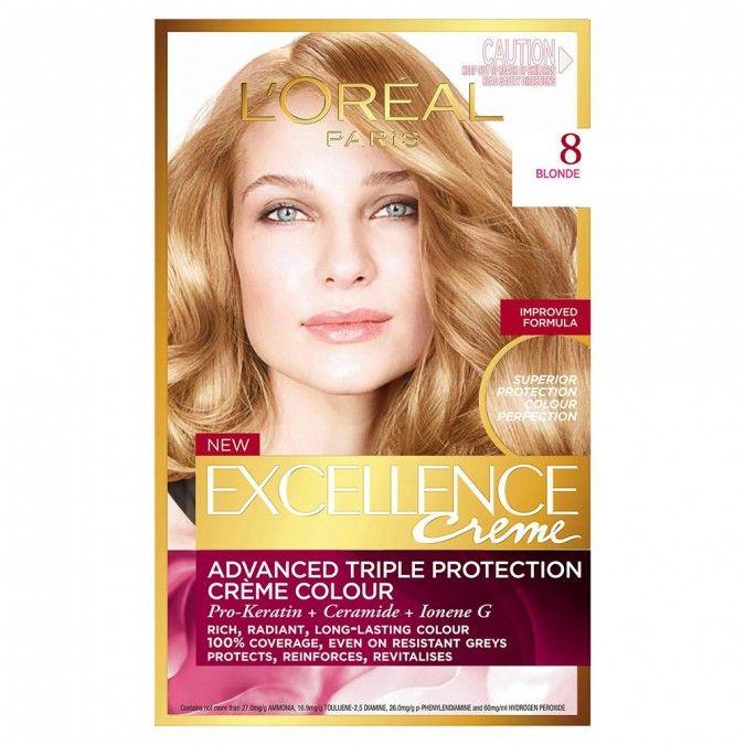 L Oreal Paris Excellence Creme 8 Blonde 1 Pack Loreal Paris Loreal Golden Blonde