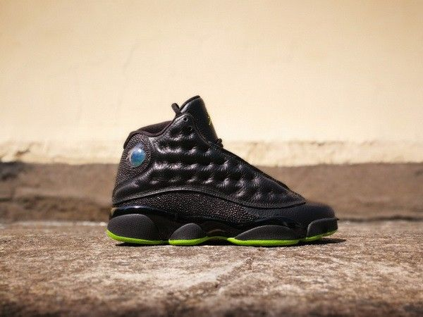 8175a65eccee55 Genuine Air Jordan 13 Altitude Black Altitude Green
