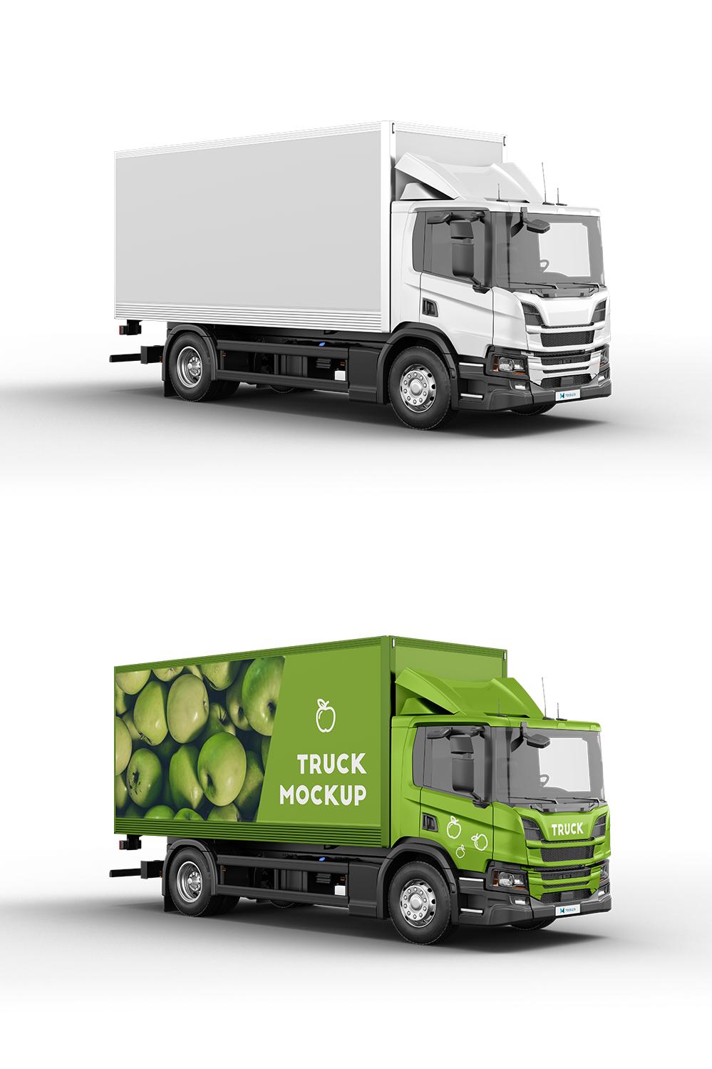 Truck Mockup 3 Trucks Mockup Simple Camera