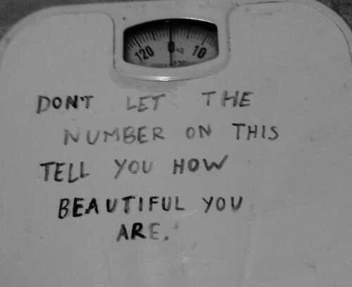 Weight doesn't define beauty