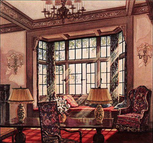 1930 Living Room - Ad For Oak Floors