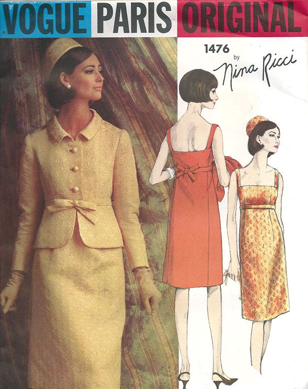 1960s Nina Ricci suit dress pattern. | via Elegant Musings.