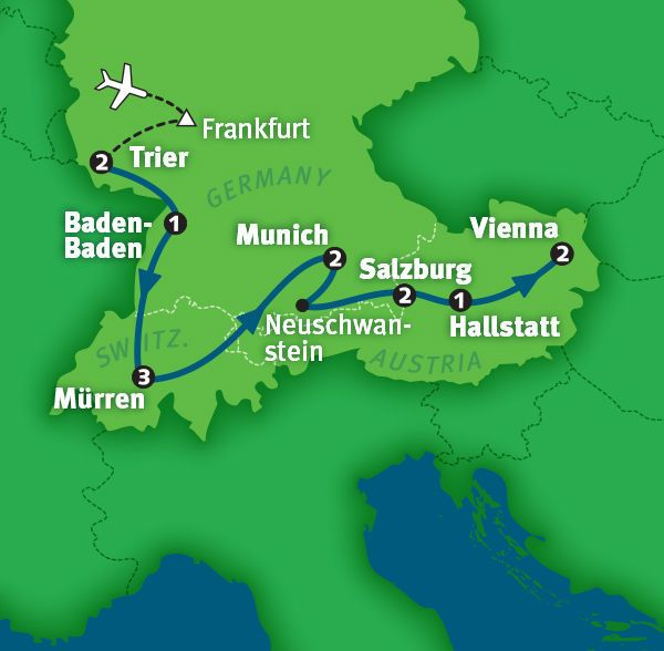 Map Of Germany And Switzerland.Tour Germany Austria Switzerland In 14 Days Rick Steves 2015