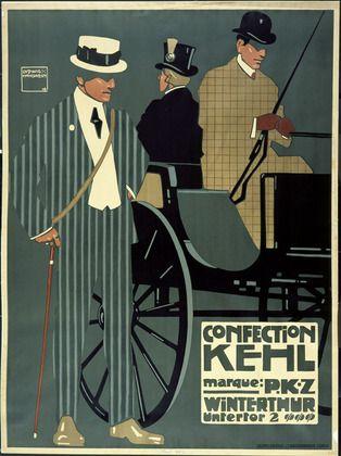 Confection Kehl, Marque: PKZ, Winterthur Untertor 2, 1908, Ludwig Hohlwein