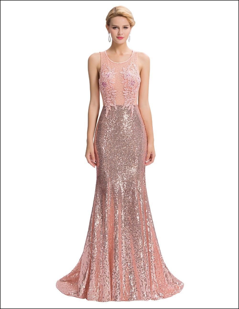 Rose Gold evening Gown | Dresses and Gowns Ideas | Pinterest | Gold ...
