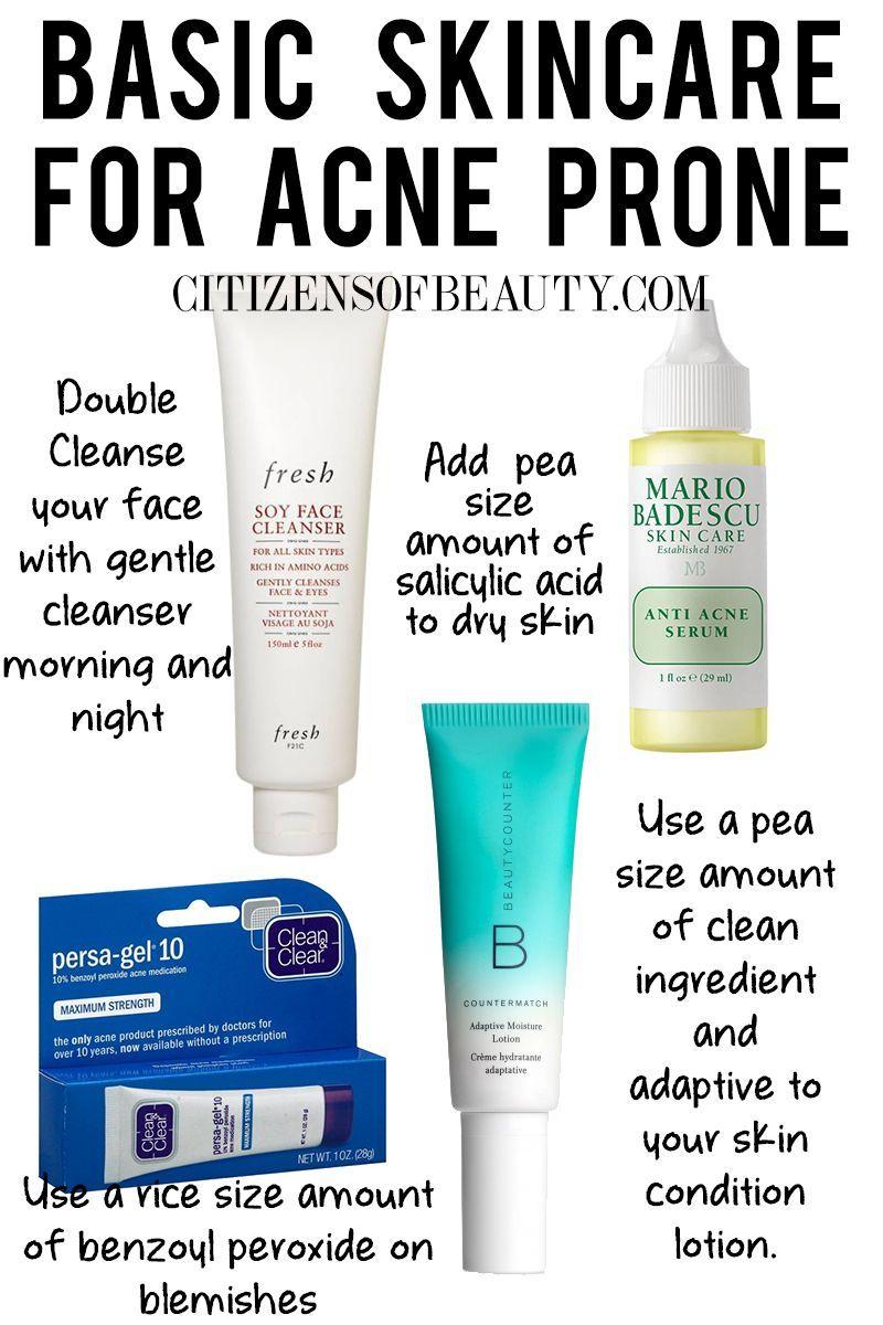 Basic Skincare Regimen For Acne Prone Skin Skincareacnehomeremedies Skin Care Essentials Natural Skin Care Regimen Best Skin Care Regimen