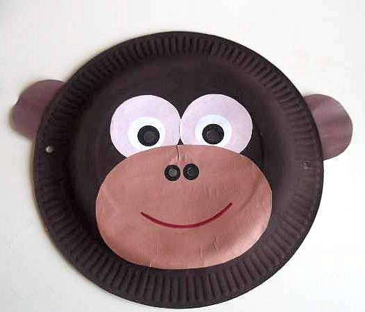 paper plate monkey mask : paper plate monkeys - Pezcame.Com