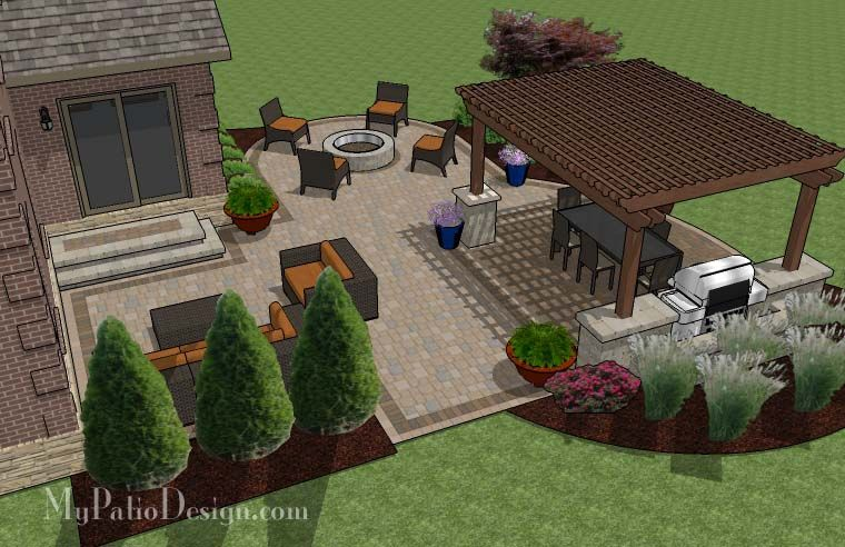 Patio Design For Entertaining Patio Plans Patio Plans