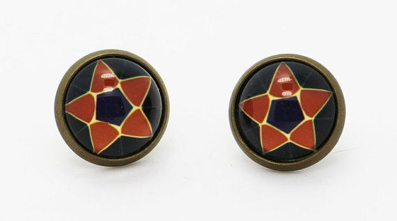 Black Butler Alois Symbol Earrings Black by boysenberryaccessory