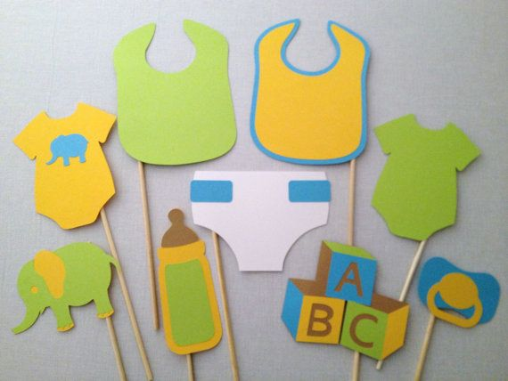 9-Piece Baby Shower Photo Booth Prop Set - Gender Reveal Party - Baby Photobooth - It's a Boy - It's a Girl
