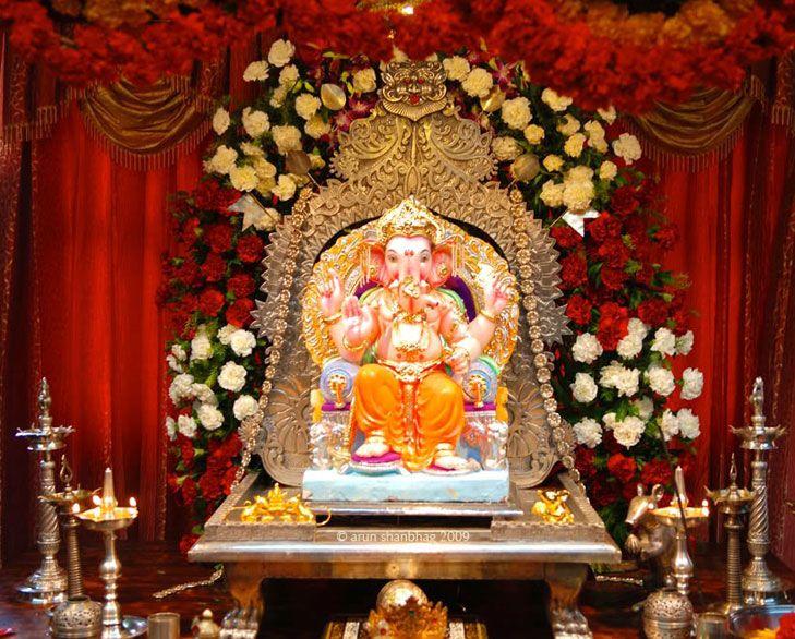 Ganpati Decoration Ideas For Home Ganpati Decoration At