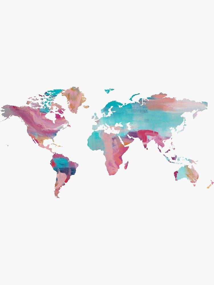 World Map - Paint Sticker by Talia Faigen