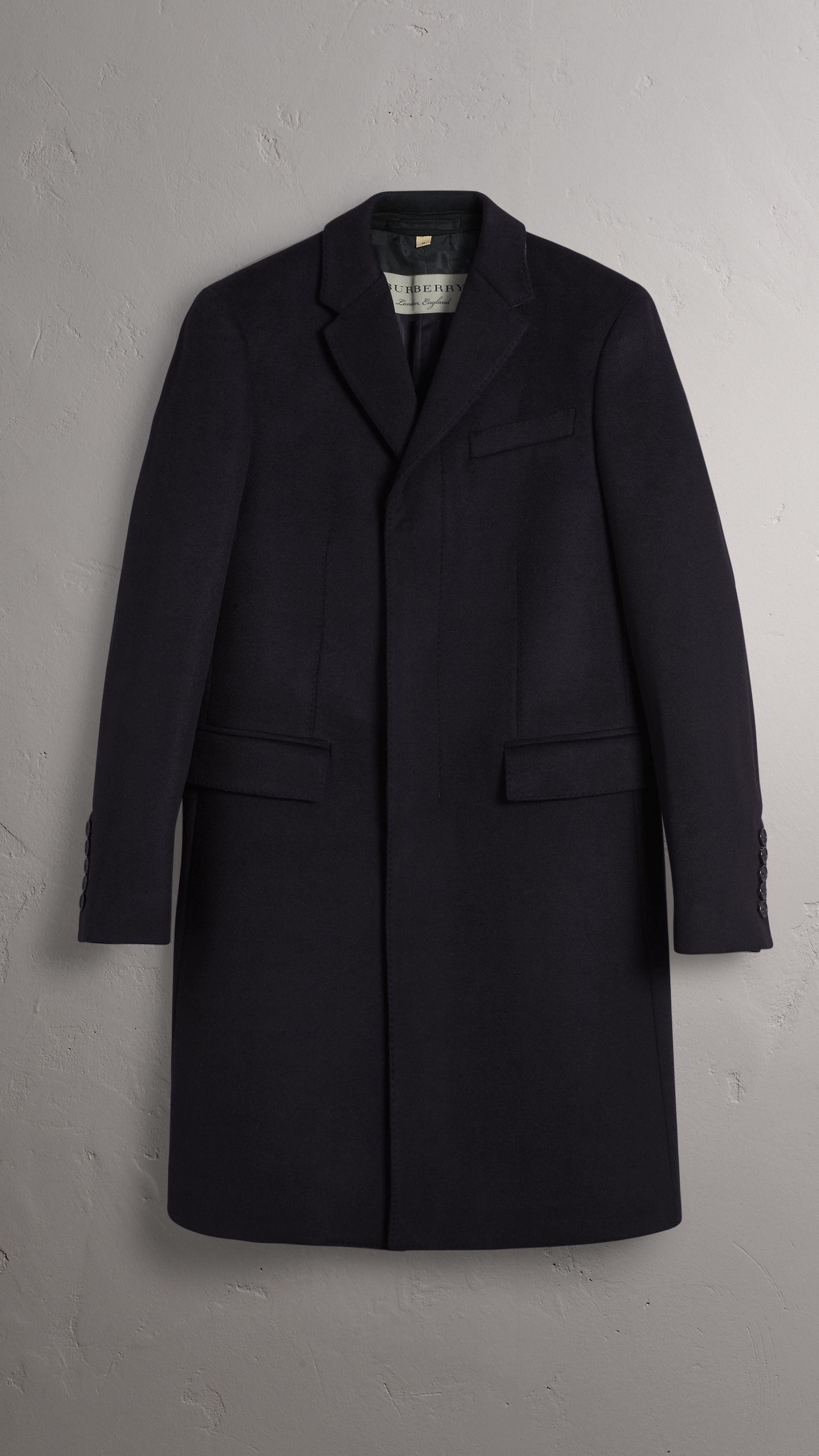 Hombre de en cachemir Marino Azul y lana vestir Abrigo 8Tqa4wTZ