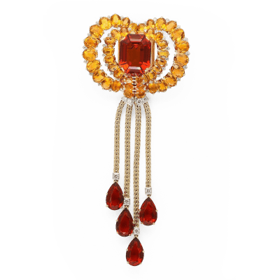Citrine Necklace/Brooch by Cartier by   Cartier