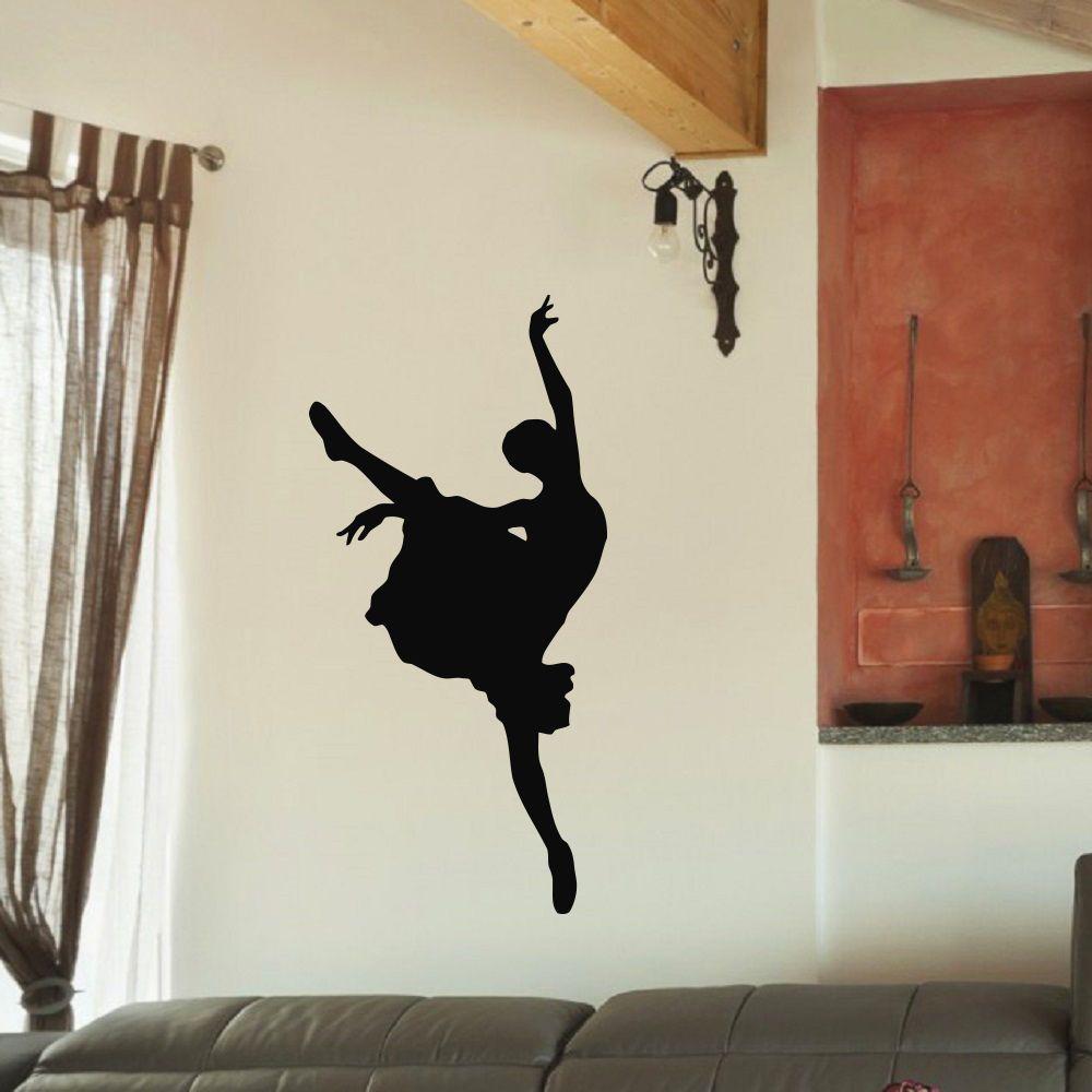 Ballet dancer ballerina black swan vinyl wall art decal sticker