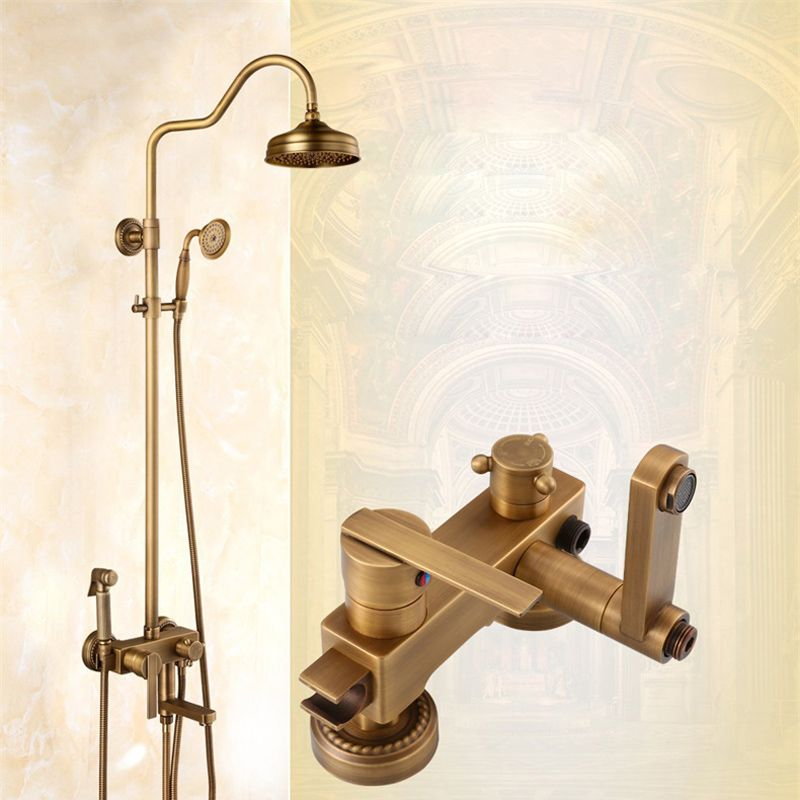 243 00 Modern Single Handle In Wall Shower Mixer Faucet With 8 Rain Shower Head Swivel Tub Spout Hand Shower Bidet Spr With Images Rain Shower Head Tub Spout Faucet