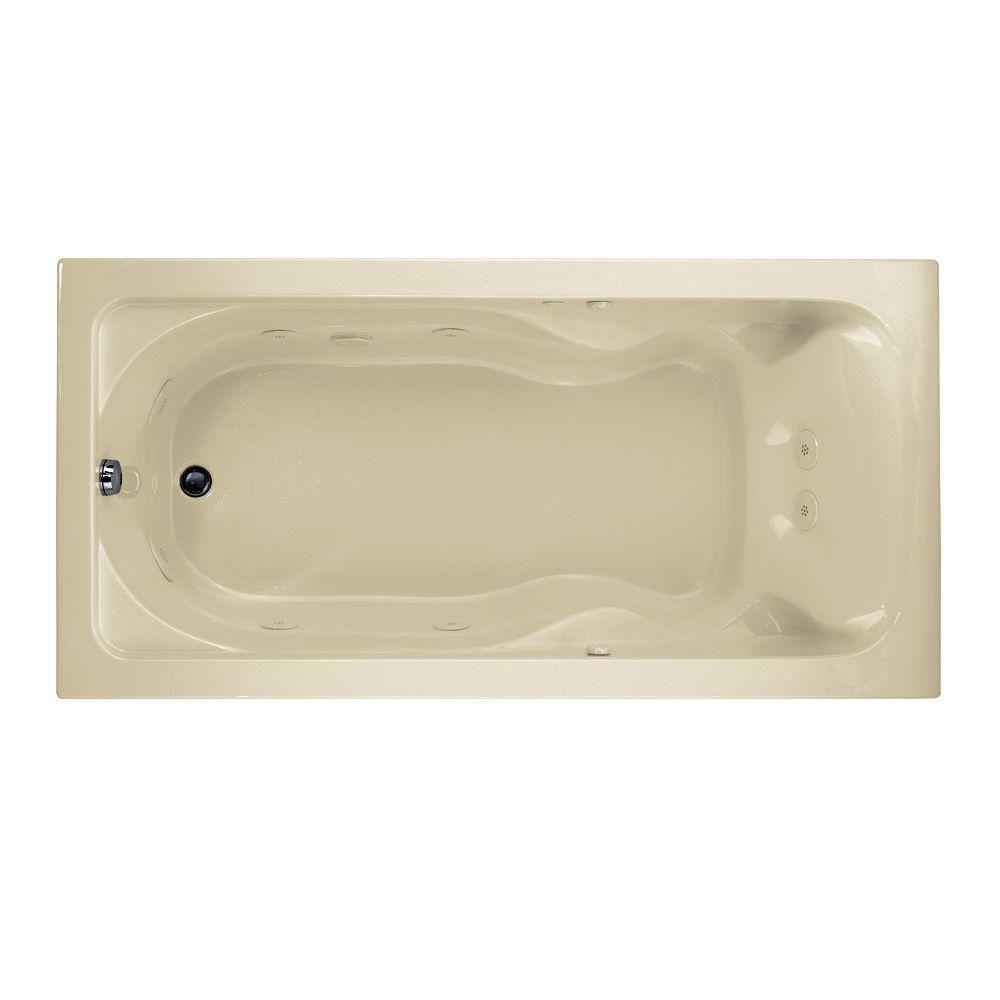 American Standard Cadet 6 ft. Whirlpool Tub in Linen ...