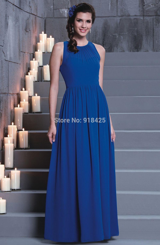 Click to buy ucuc royal blue bridesmaid dress long maid of honor dress