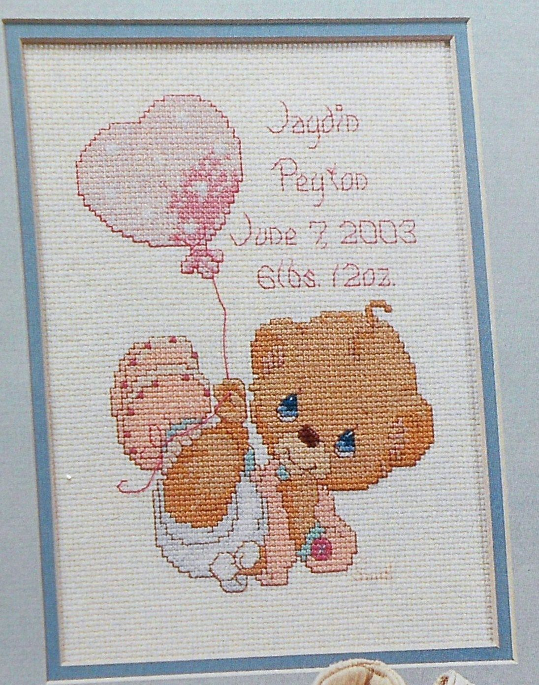 precious moments little love baby birth announcement